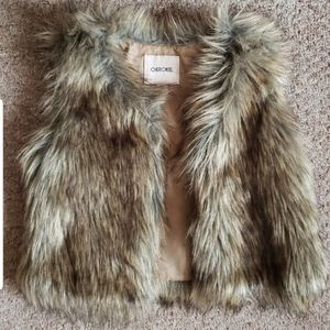 Little girls fur vest